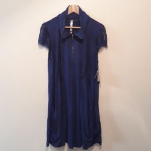 Kensie Cute Blue with Lace Trim Dress XL